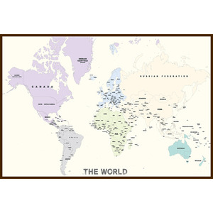 The world map (Ivory)